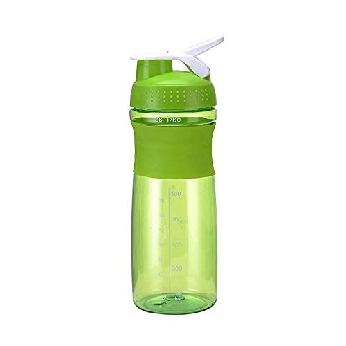 Yidieman Botella Deportiva,Botella de Agua de Silicona para coctelera de Moda-Green_700ML,Sin BPA con Pajita para gimnasi,hogar,Oficina,Actividades al Aire Libre