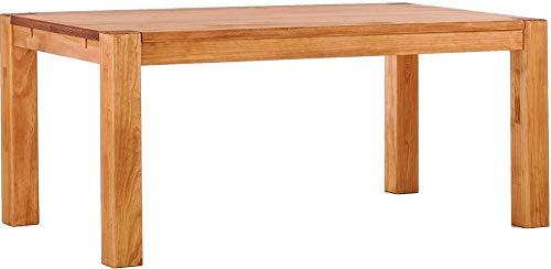 Brasilmöbel Esstisch Rio Kanto 180x80x78 cm Honig - Holz Tisch Pinie Esszimmertisch Küchentisch - vorgerichtet für Ansteckplatten - ausziehbar