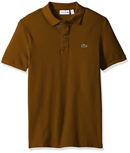 Lacoste Mens Classic Pique Slim Fit Short Sleeve Polo Shirt Polo Shirt, Tobacco Brown, XXL