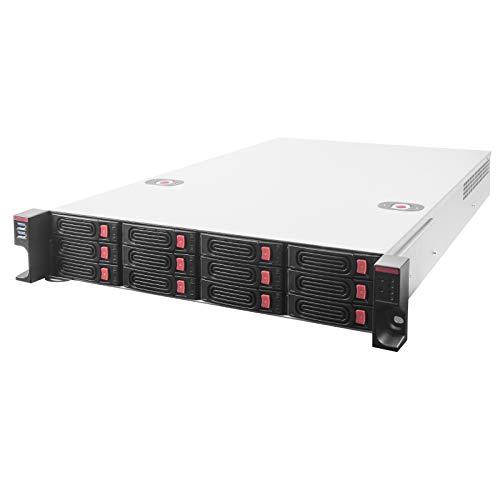 """Silverstone RM22-312, Chasis de Almacenamiento con Montura en Rack 2U de 12 bahías 2,5""""/3,5"""" HDD/SSD con Interfaz Mini-SAS HD SFF-8643 12 GB/s, SST-RM22-312"""