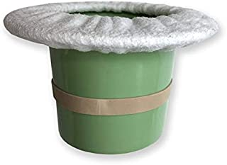 Top Hat Potty for Newborn Infant Potty Training | Elimination Communication | Includes 100% Cotton Undyed Fleece Cozy | Anti-Slip Rubber Band | for EC Baby Potty Training (Sage Green)