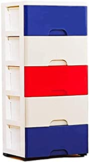 Classeurs Cinq Couches Beige Bureau Bureau de dépôt Cabinet ménagers en Plastique tiroir de Rangement Boîte de Rangement d...
