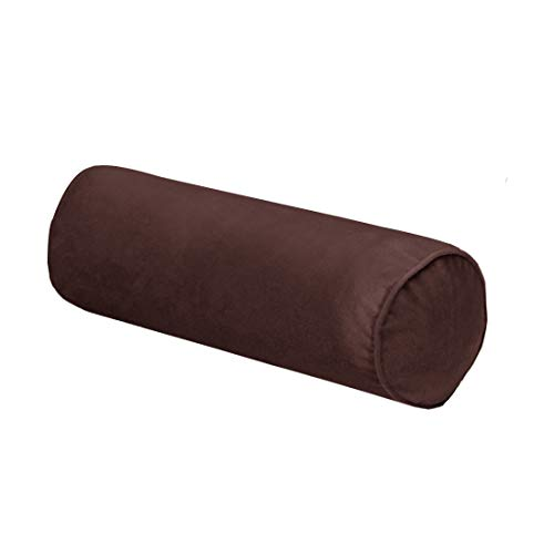 SLEEPPILLOW 16x6 Inch Round Neck Pillow for Sleeping, Neck Pain Relief, Side Back Stomach Sleeper, Car or Office Chair Sofa,Support Pillow for Posture & Comfortable Spine Position(Brown)