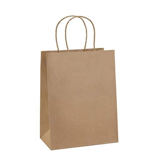 BagDream Gift Bags 8x4.75x10.5 50Pcs Paper Bags, Shopping Bags, Kraft Bags, Retail Bags, Party Bags, Brown Paper Gift Bags with Handles Bulk