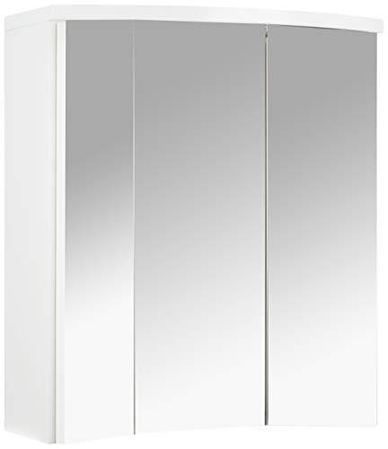 Pelipal 954 Small 3D Spiegelschrank, Holz, weiß Hochglanz, 55x63x20 cm