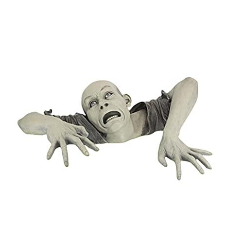 Decoración de jardín de zombi de Halloween, estatuas de jardín, adornos de jardín, figuras de terror, para decoración de jardín, decoración de casa, accesorios de decoración para Halloween