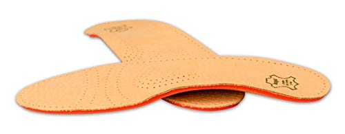 Orthotic Orthopedic Shoe Insoles Inserts with Arch Support Made of Premium Leather and Memory Foam, Kaps Relax Shock Absorber Pecari (42 EUR / 9 US/Men)