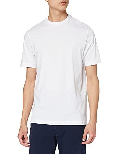 Daniel Hechter Herren T-Shirt doublepack crew 10283 472, Gr. Medium, Weiß (white 1)