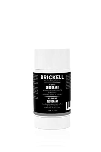 Brickell Men's Products Desodorante natural para hombres, natural y orgánico, sin aluminio, alcohol ni bicarbonato de sodio, 78 ml (Sin perfume)
