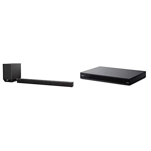 Sony ST5000 7.1.2ch 800W Dolby Atmos Sound Bar with Wireless Subwoofer (HT-ST5000) Bundle with Sony Ubp-X800M2 4K UHD Blu-Ray Disc Player (UBPX800M2), Black