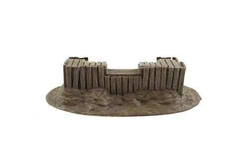 War World Gaming World at War Holz-Bunker Verteidigungsstellung - 28mm WW1 WW2 Tabletop Gelände Modellbau