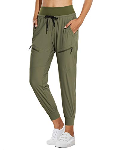 BALEA Women's Hiking Pants Waterproof Golf Pants Drawstring Qucik Dry Fishing Geen XS Green