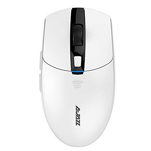 NACODEX i303 Pro Wireless Computer Gaming Mouse - 8 Programmable Buttons - 16,000 DPI Adjustable Sensor - RGB Backlit - 2.5Oz Lightweight Design - PixArt PMW3338 (White)