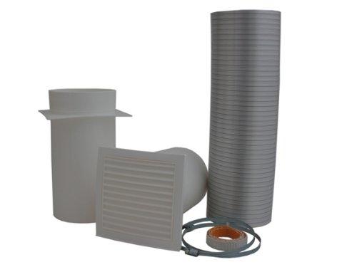 HARK Verbrennungsluftset Ø 125 mm inkl. Dichtband Flexrohr Rohr Kaminofen Kamin Ofen