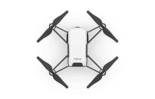 Ryze Tech Tello - Mini Drone Quadcopter UAV for Kids Beginners 5MP Camera HD720 Video 13min Flight Time Education Scratch Programming Toy Selfies, powered by DJI, White