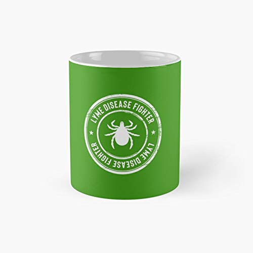 Lyme Disease Fighter 4 Classic Mug - Ceramic Coffee White (11 Ounce) Tea Cup Gifts For Bestie, Mom And Dad, Lover, Lgbt