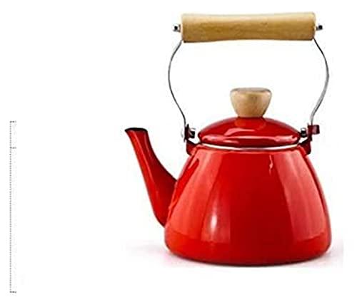 Kettle Ketterles 1.5L Hervidor de olla lavado a mano taza de café espesando jarra té tetal gas inducción cocina (Color : Red, Size : 1.5L)