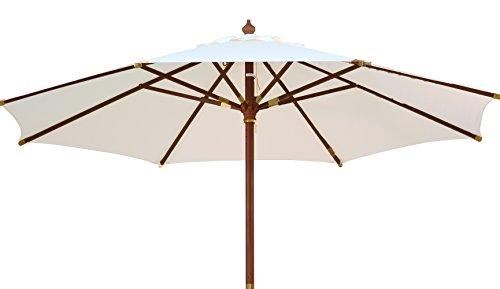 Kai Wiechmann Sonnenschirm Sunshine ø 300 cm Garten, weiß, UV-Schutz 50+ ✓ mit Windauslass ✓