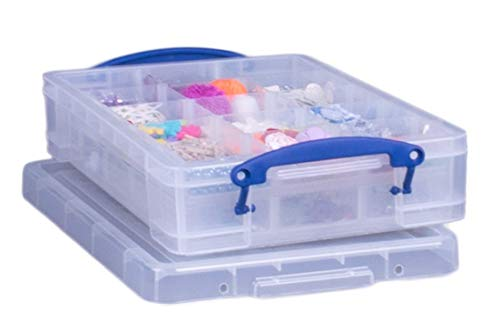 Really Useful Box 4Liter mit Hobby Tablett, transparent