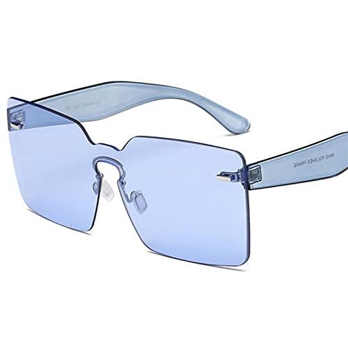 SLAKF Gafas duraderas Color de Caramelo Gafas de Sol de Lujo Marca de Lujo Pink Gafas de Sol Rosa Mujeres Conducción UV400 Gafas Remache Gafas de Sol (Lenses Color : 1)