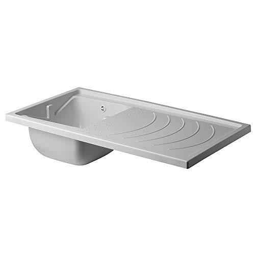 Inbagno Vasca lavatoio e Lavatrice in Polipropilene Ricambio Reversibile 109 x 60 Completo di Kit sifone e piletta