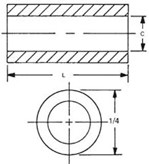 RAF ELECTRONIC HARDWARE 1129-8-AL-7 1/4 ROUND SPACERS (QTY 355)