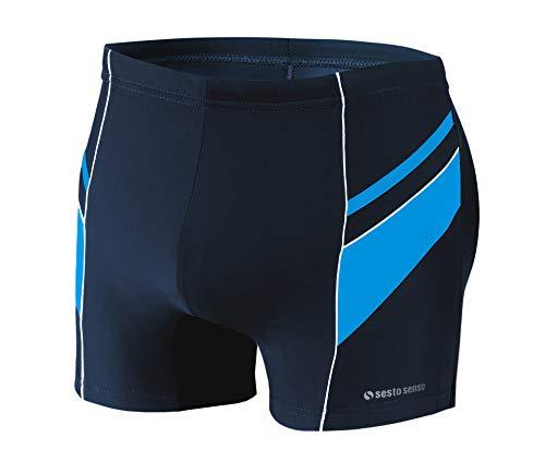 sesto senso Maillot de Bain Homme Boxer Trunks Shorts Pantalon Slips Natation de Sport BD 357 M Bleu