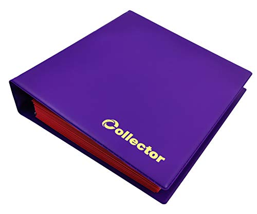 COLLECTOR Album di Monete da Collezione, per Monete di Medie Dimensioni €1 €2 - con Diverse Pagine munite di divisori con Elenco Album per 280 Monete Color Viola Pastello