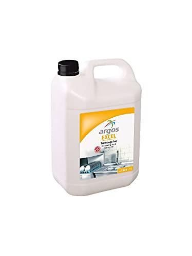 Productos de limpieza – Producto de limpieza para el hogar – Limpiador – grasa alimentaria – desengrasante de cocina – Líquido de inmersión bio-enzimático – ARGOS EXCEL – Bidón de 5 litros