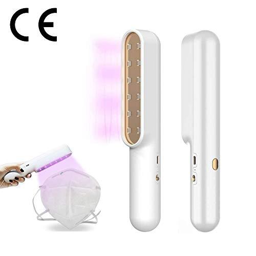 GT-LYD UV-desinfectielamp, professionele luchtreiniger, voor grote kamers verwijdert allerhande verontreinigende stoffen stof (met USB oplaadbaar)