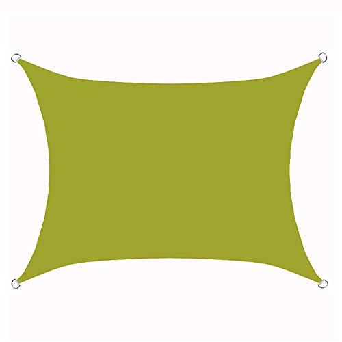 Vela De Sombra, Toldo Vela De Sombra Cuadrado, Vela De Sombra Rectangular, Protección Rayos UV, Toldo Resistente E Lmpermeable, Para Patio, Exteriores, Jardín,Green a,3x4m