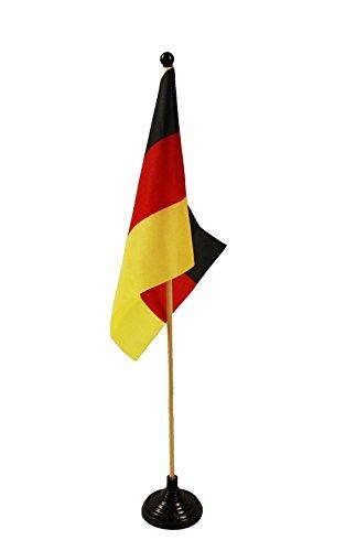 HAAC Tischflagge Flagge Fahnen Deutschland Höhe 38 cm Fußball EM 2016