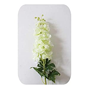 MEIshop 80CM Latex Delphinium Hyacinth Artificial Flowers Continental PU Wedding Simulation Flower Home Decoration-Green-