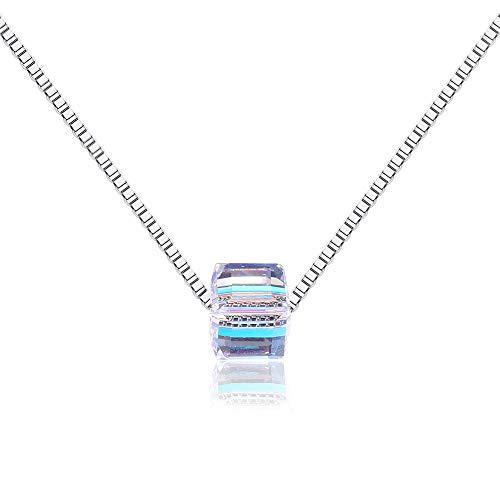 Aurora Quadrat Zucker Kristall Schlüsselbein Halskette Anhänger