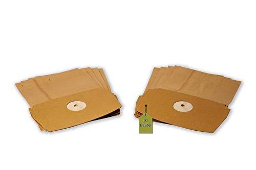 eVendix Staubsaugerbeutel passend für LUX D790 - D795 (Royal), 10 Staubbeutel, kompatibel mit Swirl ES13