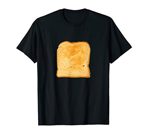 Piece of Buttered Toast Lazy Halloween Costume T-Shirt Bread