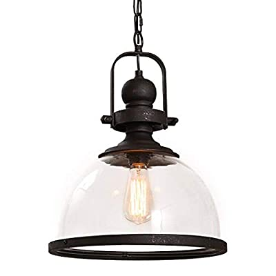 Vintage Metal Industrial Chandelier, MKLOT Ecopower Industrial Retro Pendant Light Ceiling Lighting Chandelier 1-Light