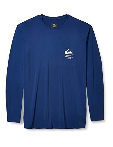 Quiksilver Herren Greenroom LS Long Sleeve Rashguard SURF Shirt Rash Guard Hemd, blau, X-Large