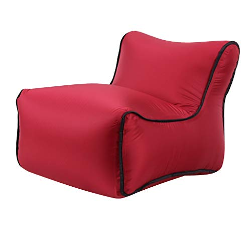 serliy Aufblasbarer Luft-Ruhesessel-faules Couch-Stuhl-Sofa sackt im Freien kampierende Reise EIN (Weinrot)