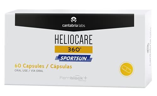 Heliocare Heliocare 360º Sportsun, 60 Cápsulas.- Aumenta la resistencia de la piel de los deportistas al sol gracias a Fernblock+,60 capsulas 600 g