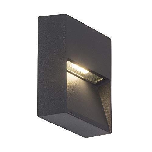 AEG FRONT LED Wandleuchte Lotuseffekt 10 cm Anthrazit
