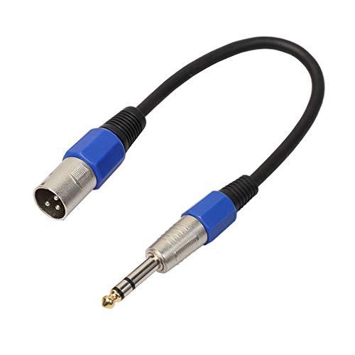Mannelijke XLR naar 6,35 mm stereo jack kabel Actieve actieve luidsprekerkabel TRS gebalanceerd zwart 1 m