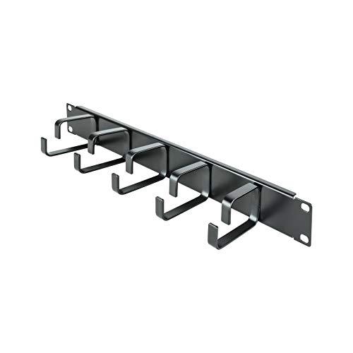 NANOCABLE 10.21.4105 -Organizador de Cables metalico con 5 Anillos, para Rack de...