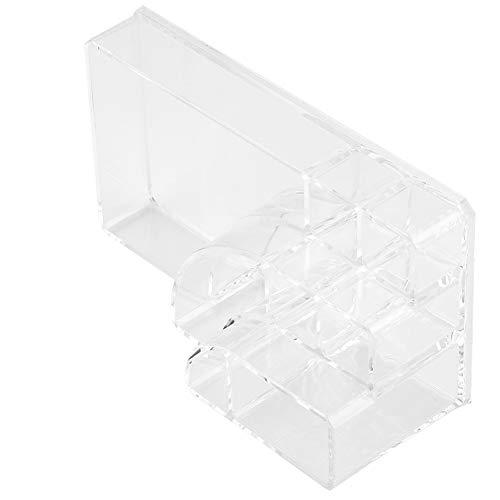 Changor Caja de almacenamiento, 17,5 x 9,5 x 6,6 cm, transparente, organizador de objetos pequeños, caja de almacenamiento de acrílico