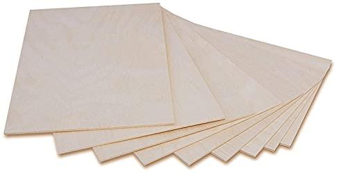 Creative Deco 10 x A3 Holz-Platte | 420 x 300 x 3 (+/- 0,5) mm | Dünne Sperrholz-Zuschnitte | Perfektes Blatt für Laubsäge, Brandmalerei, Laserschnitt, CNC Router, Durchbrochenes