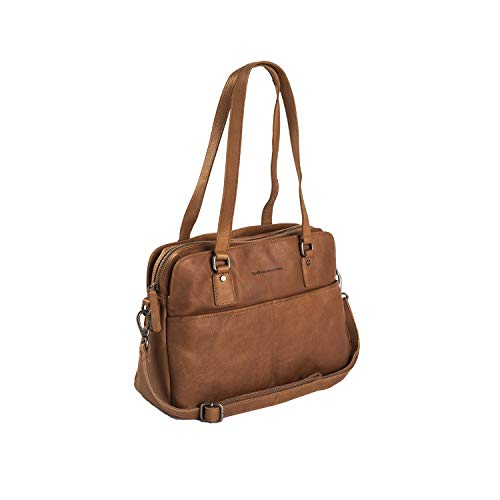The Chesterfield Brand Wax Pull Up Barcelona Schultertasche Leder 34 cm