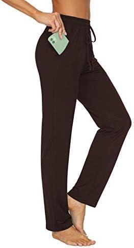 TARSE Women s Yoga Pants Drawstring Running Sweatpants High Waisted Comfy Lounge Pants Pockets product image
