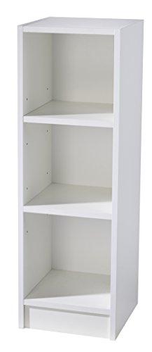 roba Seitenregal 'Maren' mit 3 offenen Fächern, Standregal passend unter Wickelkommode der Serie, Wickelkommodenregal in weiß zur Erweiterung von Babyzimmer und Kinderzimmer