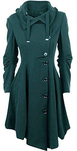 Adelina Mantel dames winterjas lang elegante winterjas trenchcoat zwart wollen mantel winterjas mode complex onregelmatige zoom outwear