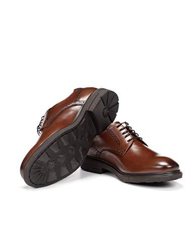 Fluchos   Vestir de Hombre   BELGAS F0630 Sierra Castaño Zapato de Vestir   Vestir de Piel de Vacuno de Primera Calidad   Cierre con Cordones   Piso EVA